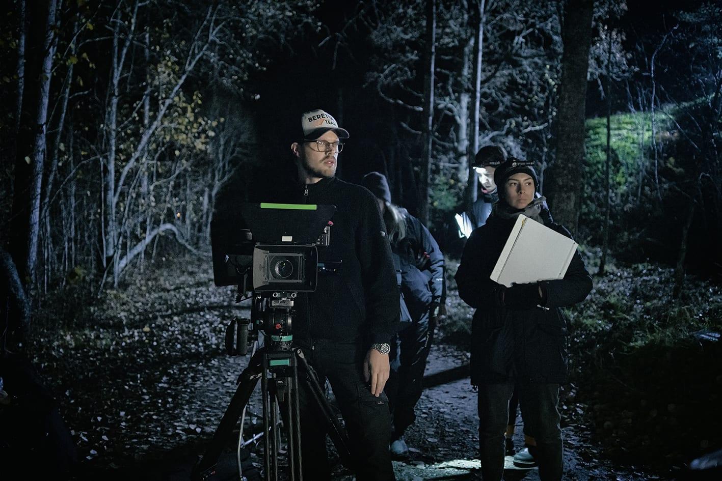 Film shooting in the dark